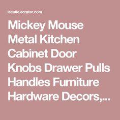 Cowboy mickey mouse home decor ceramic kitchen drawer door brass