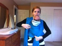 Babywearing Faith shows step-by-step how to wear a newborn in Front Wrap Cross Carry (FWCC) in a woven wrap.  This carry is also suitable in a stretchy wrap, such as a Cuddly Wrap.