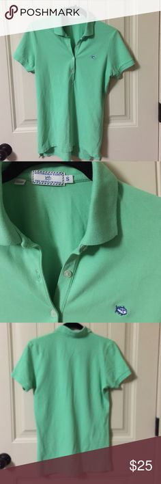 """SOUTHERN TIDE THE SKIPJACK POLO Shirt SMALL Popular, preppy brand SOUTHERN TIDE. The SKIPJACK POLO. Excellent condition! Measures approx 17"""" underarm to underarm and approx 24.5"""" length in front and 26"""" in back. This is a must have for any wardrobe. Expensive rugby polo top shirt. Thanks for looking. I think this color is Starboard Southern Tide  Tops"""