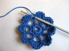 Tutorial Paso a paso Flor Ganchillo Crochet