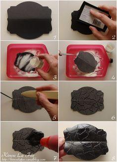 Embossage a chaud pour technique du faux croco: http://kinoulafee.canalblog.com/archives/2015/07/11/32318746.html