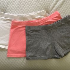 Bundle of 3 cute booty shorts Bright & sexy! Perfect condition. Pictures are true to color. Worn once maybe. Forever 21 Shorts