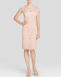 Tadashi Shoji Dress - Cap Sleeve Lace   Bloomingdale's