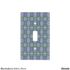 Blue Scales Light Switch Cover