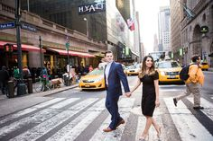 Olivia&Matt -GrandCentral/CentralPark Engagement Photo By Angelica Criscuolo Photography