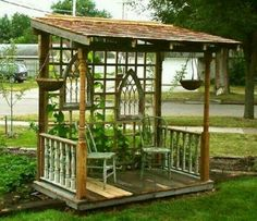 Stand alone porch - rustic - country - shady spot nook - unique gazebo - deck