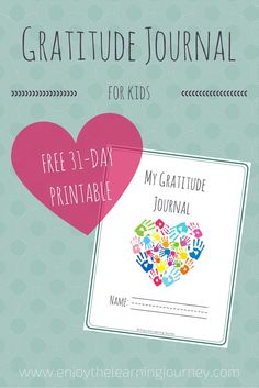 Let's Choose to Be Grateful! FREE Printable Gratitude Journal for Kids - Enjoy the Learning Journey - Your children can reflect on what they are thankful for with this free printable gratitude journal for kids with areas for writing and drawing! Art Therapy Activities, Activities For Kids, Therapy Ideas, Kids Therapy, Calming Activities, Therapy Games, Counseling Activities, Therapy Tools, Thanksgiving Activities