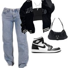 Tomboy Fashion, Teen Fashion Outfits, Mode Outfits, Retro Outfits, Look Fashion, Streetwear Fashion, Baddie Outfits Casual, Cute Swag Outfits, Cute Comfy Outfits