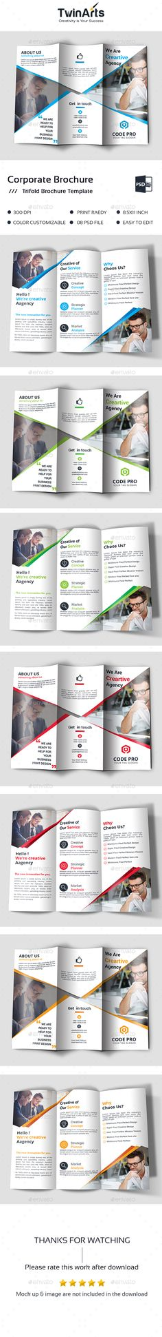 Trifold Bundle Brochure template, Templates and Brochures - university brochure template