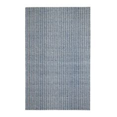 Anji Cape Cod Blue Stripe Indoor Area Rug Lazy Lightning Tan - AMB0383-0057