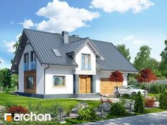 gotowy projekt Dom w lucernie Home Fashion, Cabin, Mansions, House Styles, Home Decor, Projects, Decoration Home, Manor Houses, Room Decor