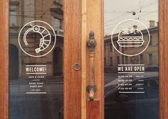 brandcetera: Ksenia Stavrøva / Russia Identity for Panasian cafe and bar Cafe Window, Window Signage, Window Art, Cafe Interior Design, Cafe Design, Store Design, Bistro Design, Restaurant Signage, Restaurant Design