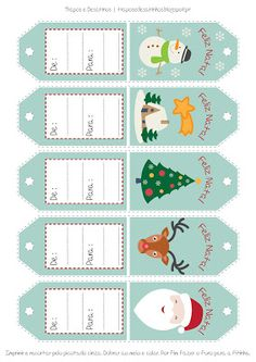 Moldes Grátis | Free Sewing Patterns: Etiquetas para Presentes de Natal | Free printable...