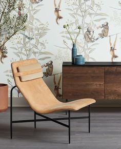 Leather wrapped contours form a relaxing position that equally invites introspection and socialization with this modern leather lounge chair by Blu Dot. Nook, Stainless Steel Dining Table, Leather Lounge, Aesthetic Colors, Butterfly Chair, Green Leather, Natural Leather, Lumbar Pillow, Deep Thoughts