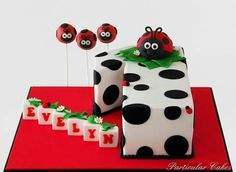 Cakeriffic: Very particular work Fondant Cakes, Cupcake Cakes, Cake Pops, Ladybug Cakes, Fantasy Cake, 1st Birthday Cakes, Just Cakes, Girl Cakes, Love Cake
