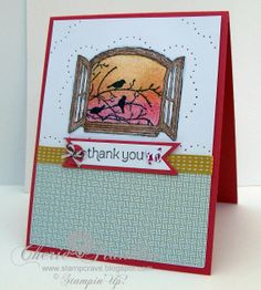 stampin up cottage window card images | ... masking and the new paper-piercing pack as well as Cottage Window