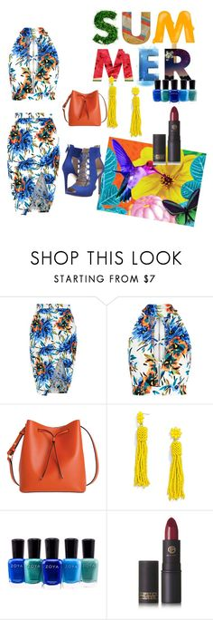 """""""Yolo enjoy the summer"""" by unitaiyo ❤ liked on Polyvore featuring New Look, Lodis, BaubleBar, Zoya, Lipstick Queen and GUESS"""