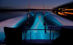 Luminescence In The Water by stevewhis, via Flickr. I would like to take a picture of bioluminescence from my kayak one day.