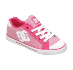 DC CHELSEA Womens Skate Shoes (NEW w/ FREE SHIPPING) Size 5-9 WHITE & CRAZY PINK #DCShoes #Skateboarding