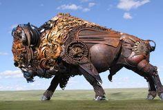 John Lopez Metal Sculptures in art metals  with Sculpture Recycled Art Recycled Metal Animals