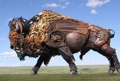John Lopez Metal Sculptures in art metals  with Sculpture Recycled Art Recycled Metal Animals