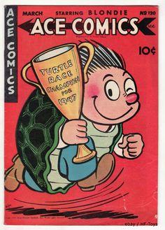 Vintage ACE Comic Book 120 Golden Age 1947 The Phantom Prince Valiant Blondie