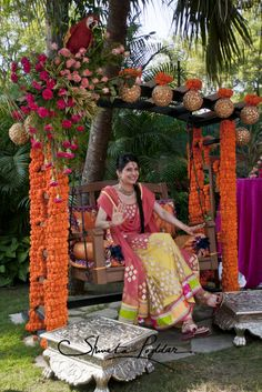 The main entrance to this Indian wedding's event hall is a ...