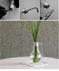 diy lightbulb plant holder
