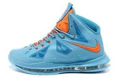 buy online fed06 514ac Nike Lebron X 10 2012 Light Blue Navy Yellow Medal