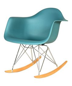 Control Brand Teal Mid-Century Adult Rocking Chair