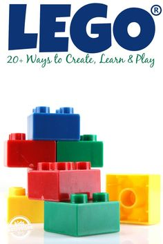 20 LEGO activities for kids to maximize the fun and learning. Kids love to build LEGOs! Lego Activities, Craft Activities For Kids, Toddler Activities, Family Activities, Lego Duplo, Lego App, Lego Instruction Books, Tangram, Educational Activities