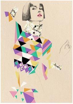 fashion illustration etsy $60