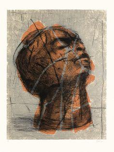 William Kentridge, Orange Head, 1993-98