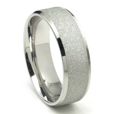 8MM 316L Stainless Steel Sparkle Finish Beveled Men's Wedding Band Ring ** This is an Amazon Affiliate link. Check this awesome product by going to the link at the image.