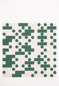 Tauba Auerbach, Morse Alphabet, With Spaces, Cream, Green, 2006