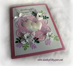 wedding card www.danihaft.blogspot.com