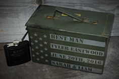 Ammo Box and Flask Giftset for Men Personalized Laser Engraved Ammo Box Custom Ammo Can Box Groomsman Best Man Gift Ideas Personalized by MemoriesMadeCustom on Etsy