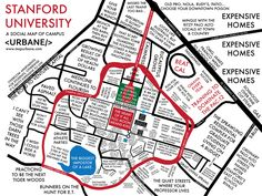 Stanford University: Campus Culture Map – Urbane Map Store