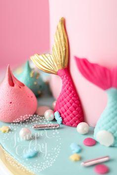 Magically Fun Rainbow Unicorn and Mermaid Birthday Cake! Mermaid Birthday Cakes, Mermaid Cakes, Unicorn Birthday, 5th Birthday, Birthday Parties, Creative Birthday Cakes, Creative Cakes, Fondant Numbers, Fancy Sprinkles