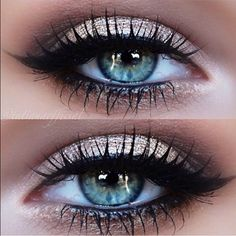 Pretty look for colored eyes.