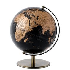 A27792 Black & Copper Globe 25cm- This stylish Black & Copper contemporary globe is not only decorative but also the perfect gift for any travel enthusiast #globe #traditional #explore