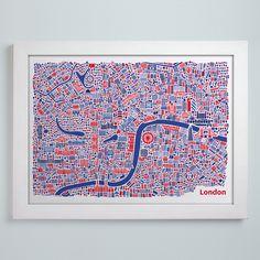 La mappa illustrata di Londra
