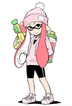 Pink squid girl