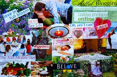 Project #1 ~ A vision board. Moving forward