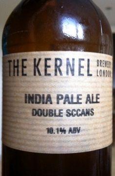 Cerveja The Kernel India Pale Ale Double Sccans, estilo Imperial / Double IPA, produzida por The Kernel Brewery, Inglaterra. 10.1% ABV de álcool.