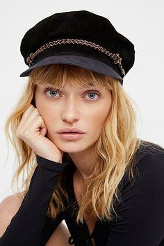 Slide View 1: Kayla Leather Lieutenant Hat
