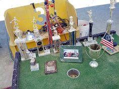 Odd array of golf trophies. Golf Trophies, Las Vegas Golf, 15 Years, Golf Clubs, Golf Courses, Life, 15 Anos