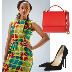 A fashion look from November 2015 featuring Jimmy Choo pumps and Givenchy shoulder bags. Browse and shop related looks. Kitenge, November 2015, African Prints, African Fashion, Jimmy Choo, Lily Pulitzer, Givenchy, Shoulder Bags, Fashion Looks