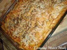 Everyday Moms Meals: Baked Ziti -  http://everydaymomsmeals.blogspot.com/2012/01/pasta-12494837.html