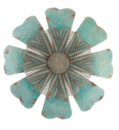 gorgeous embossed lace metal flower wall sculpture panel decor art 28d - Metal Flower Wall Decor